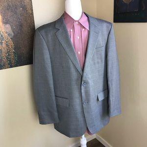 Andrew Fezza light gray two button blazer